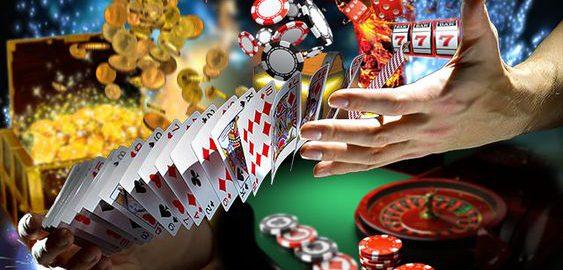 playing baccarat game
